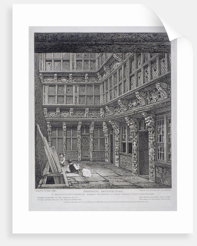 Mansion of Sir Richard (Dick) Whittington in Hart Street, Crutched Friars, London by John Thomas Smith