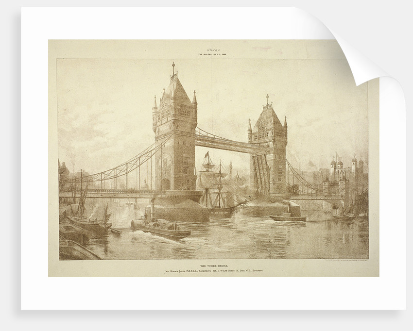 View of Tower Bridge, London by Anonymous