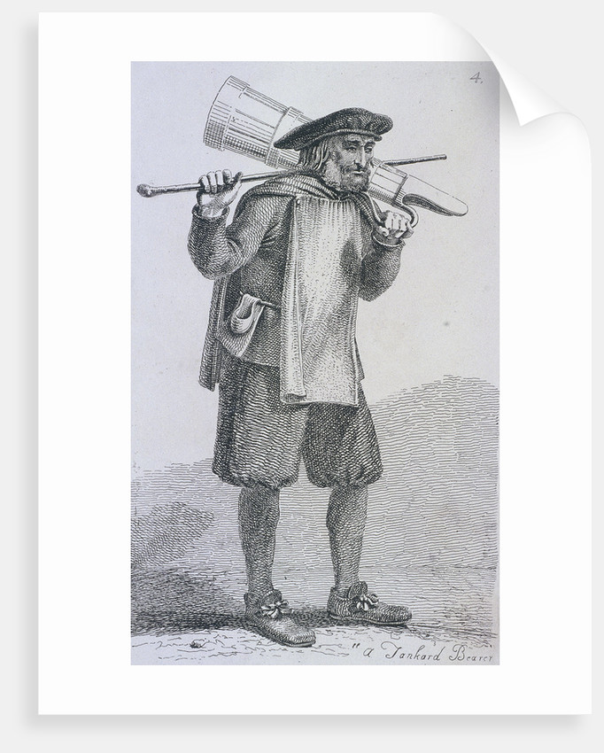 A Tankard Bearer' c1680, Cries of London, (c1819?) by John Thomas Smith