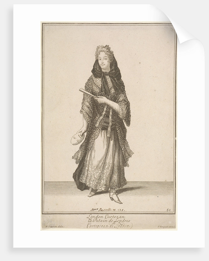 London Curtezan, Cries of London, (c1688?) by Pierce Tempest