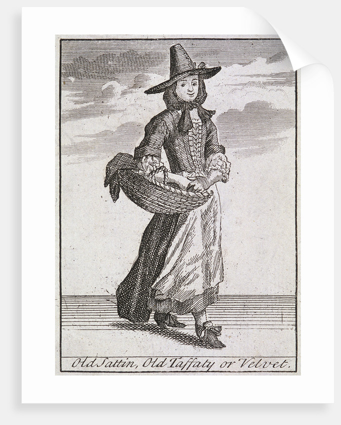 Old Sattin, Old Taffaty or Velvet, Cries of London, (c1688?) by Anonymous
