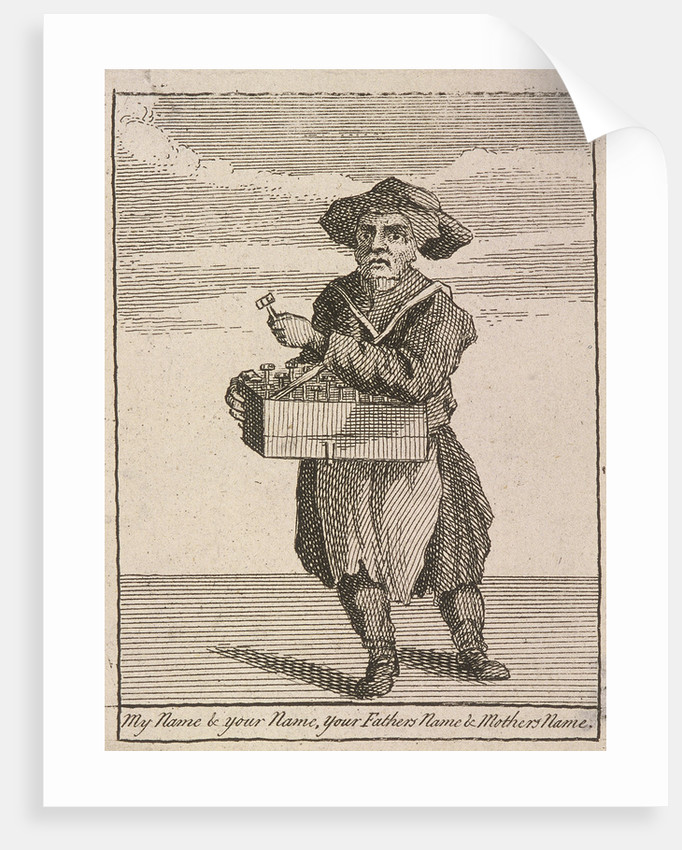 My Name & Your Name, your Fathers Name & Mothers Name, Cries of London, (c1688?) by Anonymous