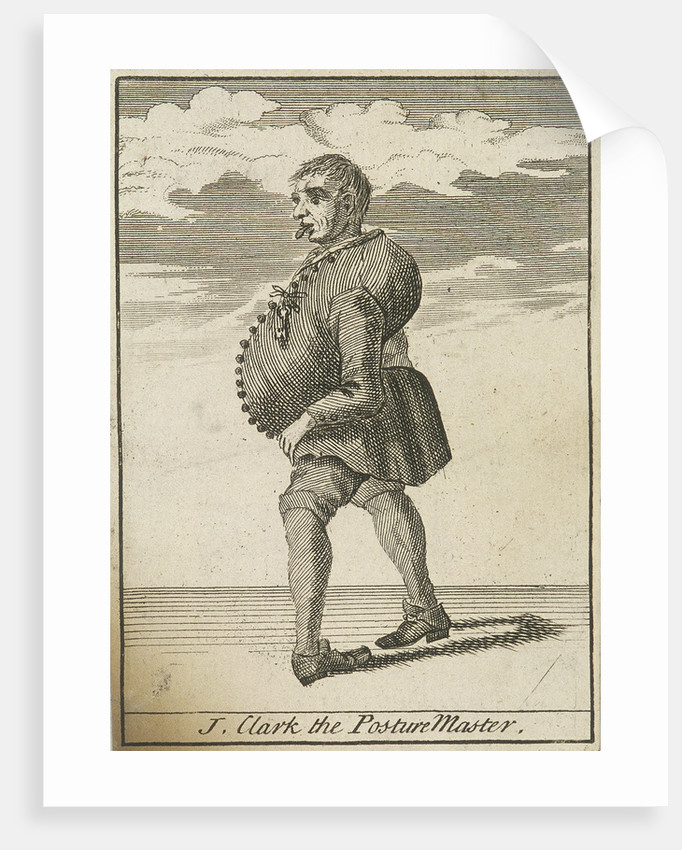 J Clark the Posture Master, Cries of London, (c1688?) by Anonymous