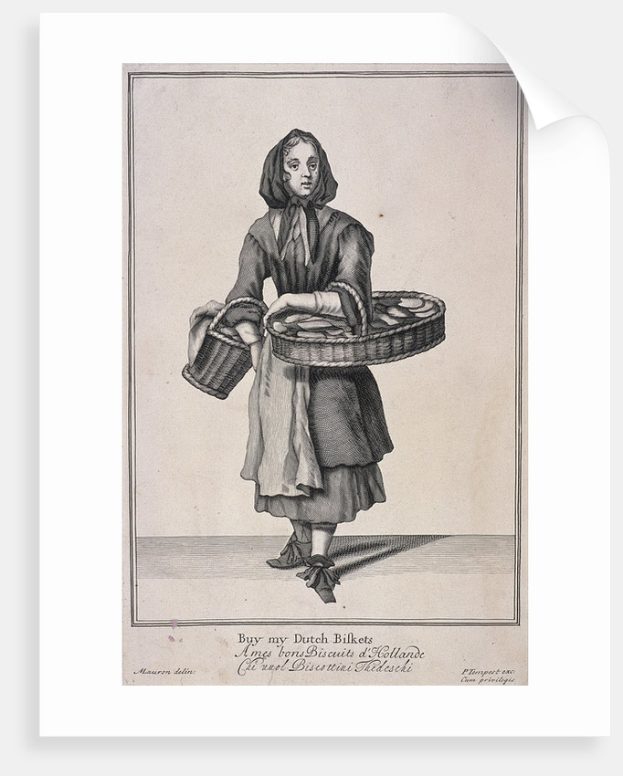 Buy my Dutch Biskets, Cries of London, (1688?) by Anonymous