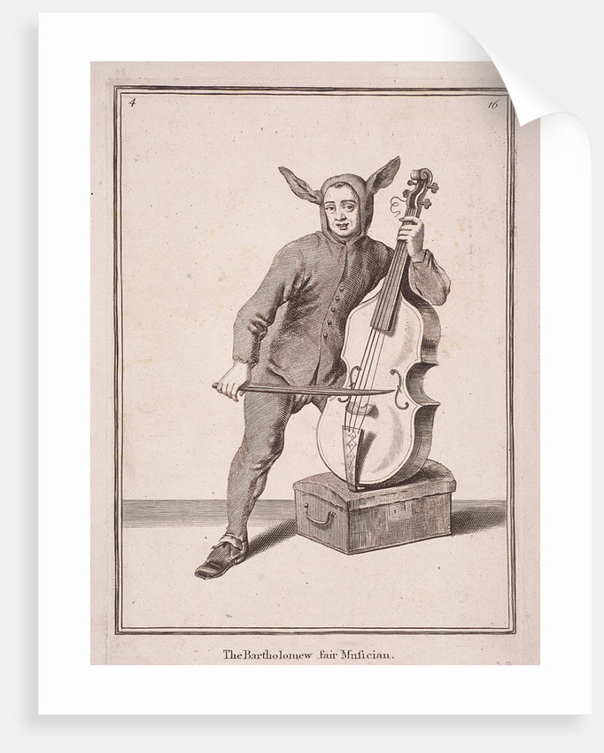 The Bartholomew fair Musician, Cries of London, (1688?) by Anonymous