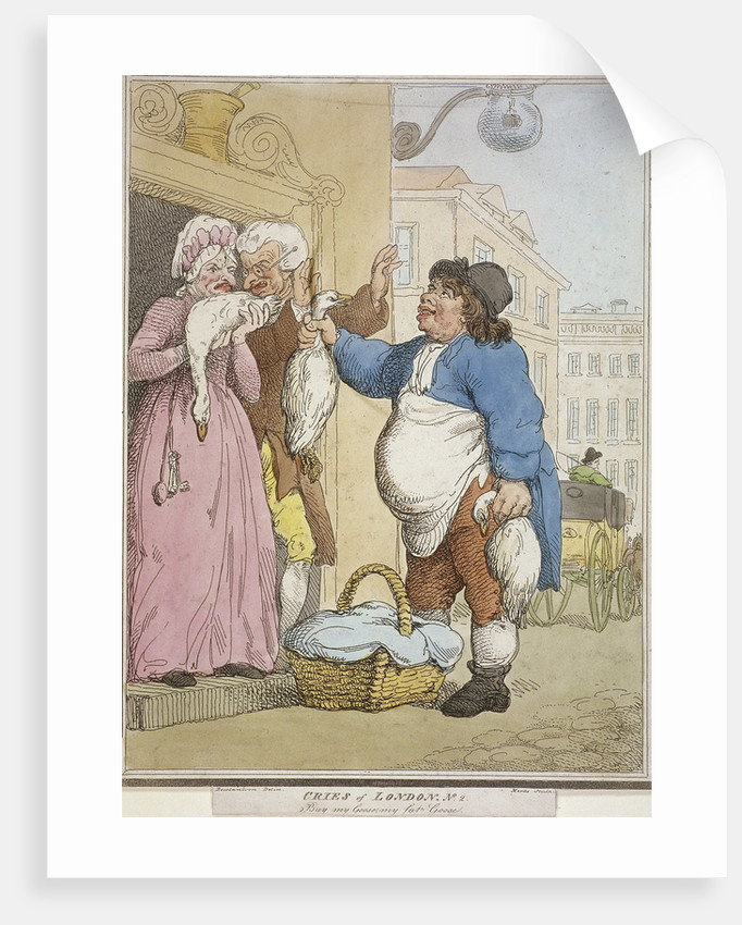 Buy my Goose, my fat Goose, plate II of Cries of London by