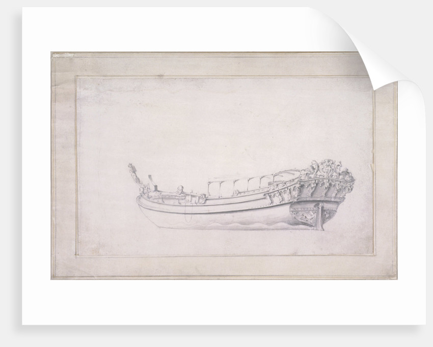 Design for a city of London barge by