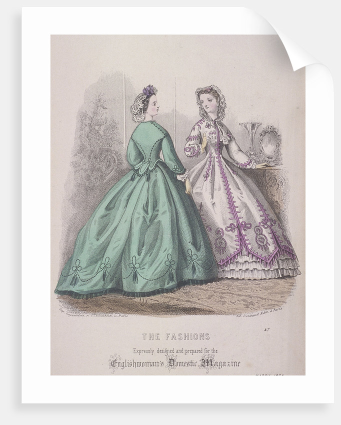 Two women wearing the latest fashions by
