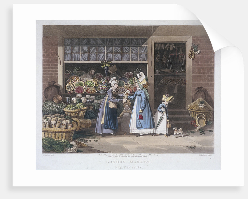 London Market'; a fruit seller by Matthew Dubourg