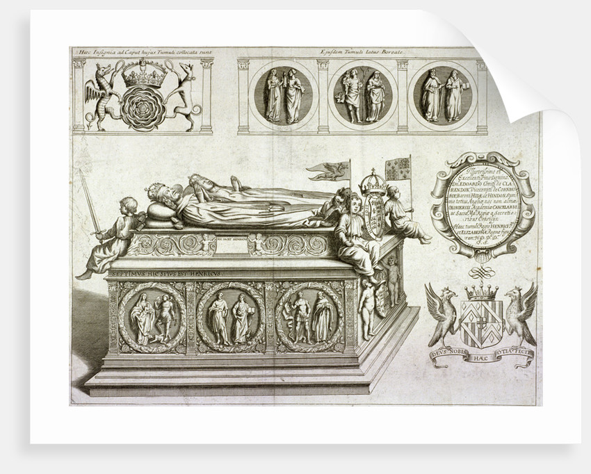 The tomb of Henry VII and Queen Elizabeth in the king's chapel in Westminster Abbey, London by