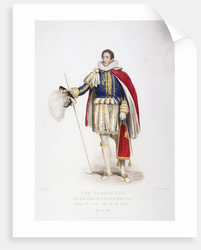 Treasurer in ceremonial costume by Edward Scriven