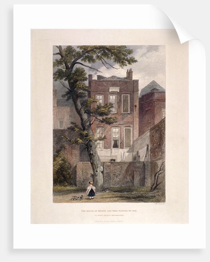 View of Milton's residence, Petty France, Westminster, London by