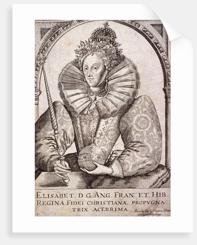 Queen Elizabeth I with sceptre and orb by Anonymous