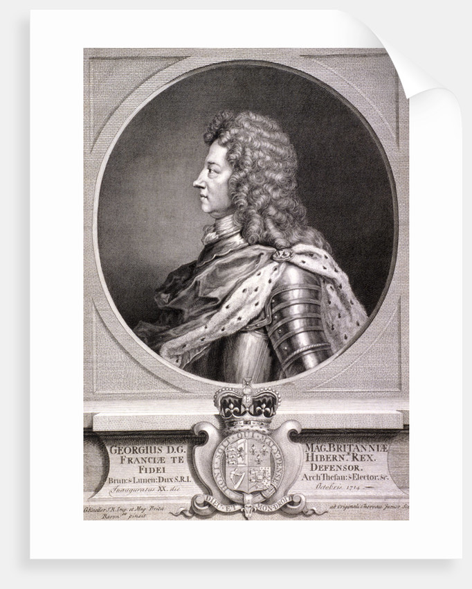 George I, King of Great Britain by J Chereau