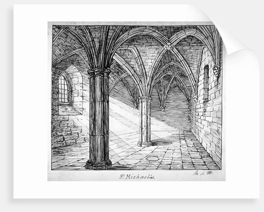 St Michael's Crypt, Aldgate, London by Mary Anne Hedger