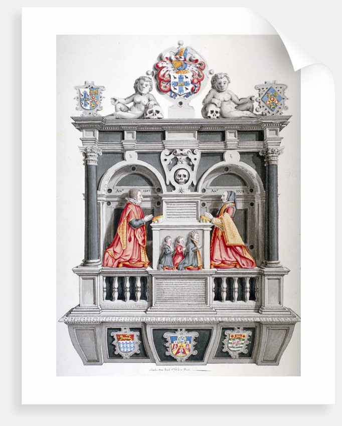 Monument in the Church of St Andrew Undershaft, Leadenhall Street, London, c1810 by