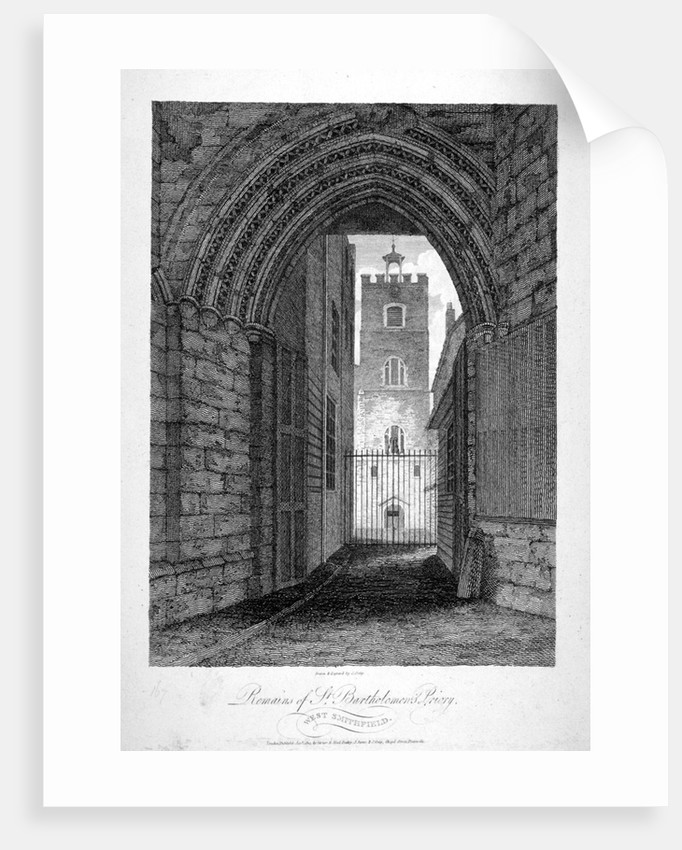 Gateway to the Church of St Bartholomew-the-Great, Smithfield, City of London by John Greig