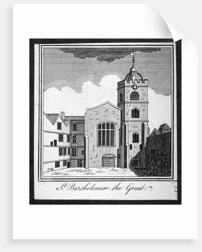 View of the Church of St Bartholomew-the-Great, Smithfield, City of London by Anonymous