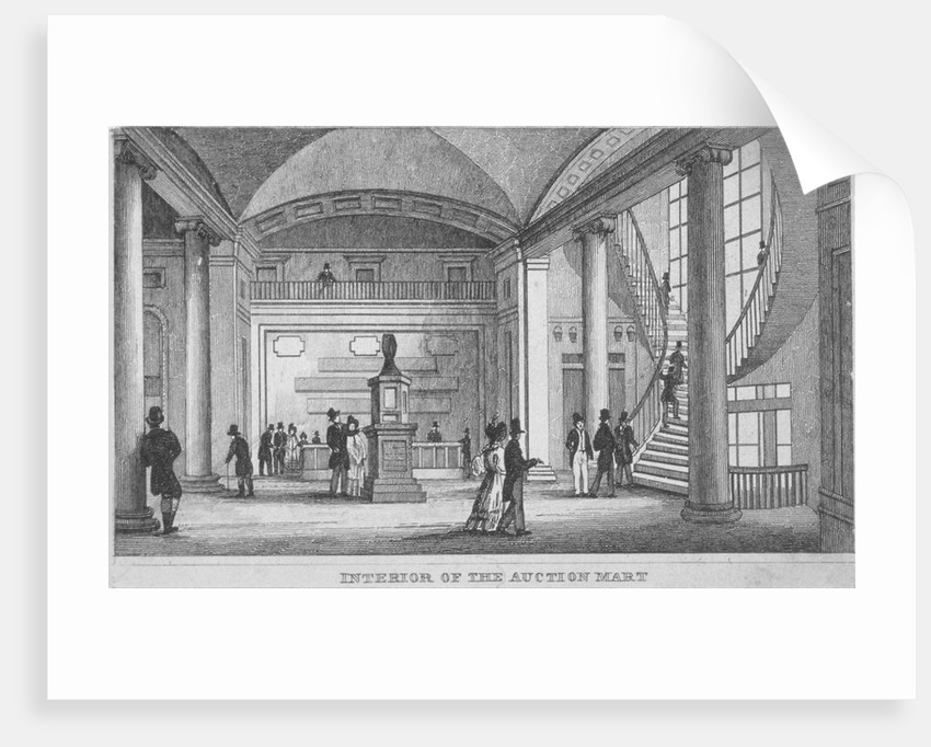 Interior of the Auction Mart in Bartholomew Lane, City of London by Anonymous