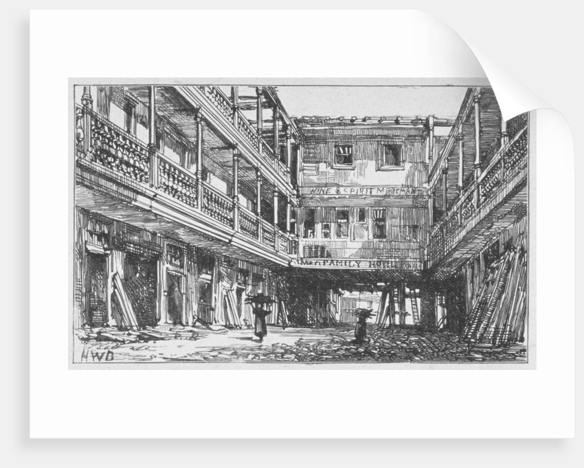 View of the Four Swans Inn, Bishopsgate, City of London by Anonymous
