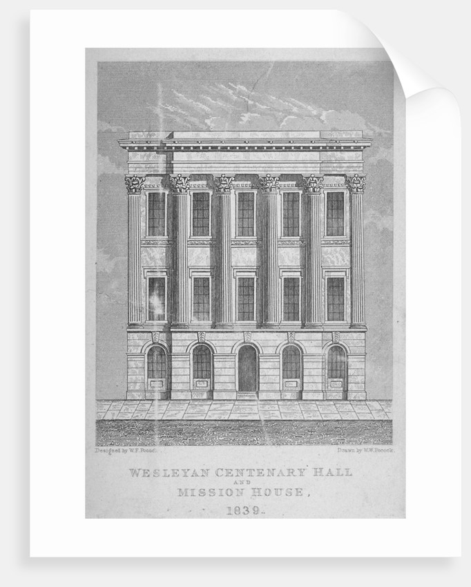 View of the Wesleyan Centenary Hall and Mission House, Bishopsgate, City of London by WW Pocock