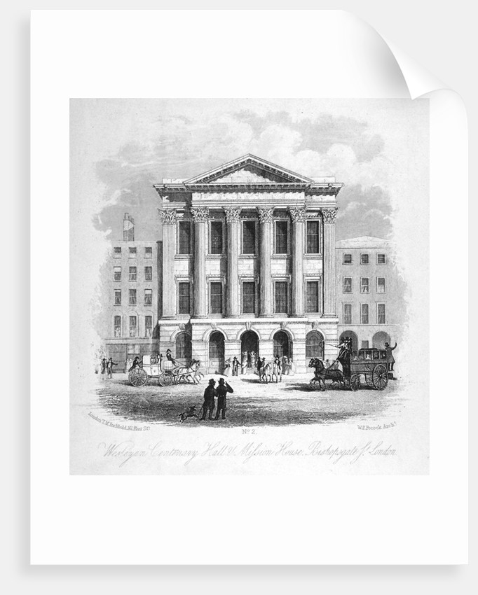 The Wesleyan Centenary Hall and Mission House, Bishopsgate, City of London by Anonymous