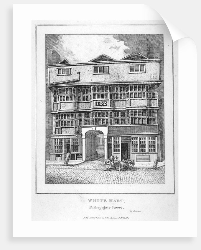 The White Hart Inn at no 119 White Hart Court, Bishopsgate, City of London by Anonymous