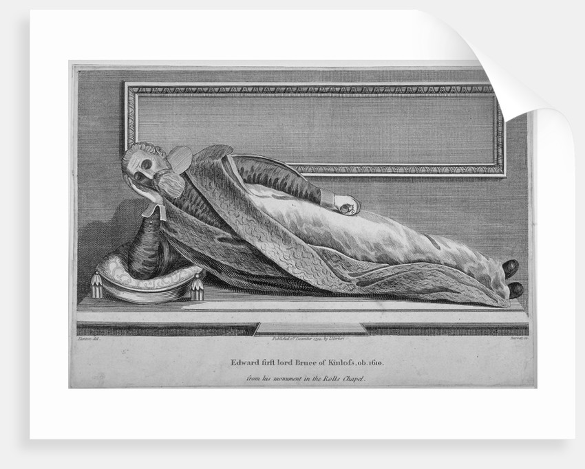 Monument to Sir Edward Bruce in Rolls Chapel, Chancery Lane, City of London by King