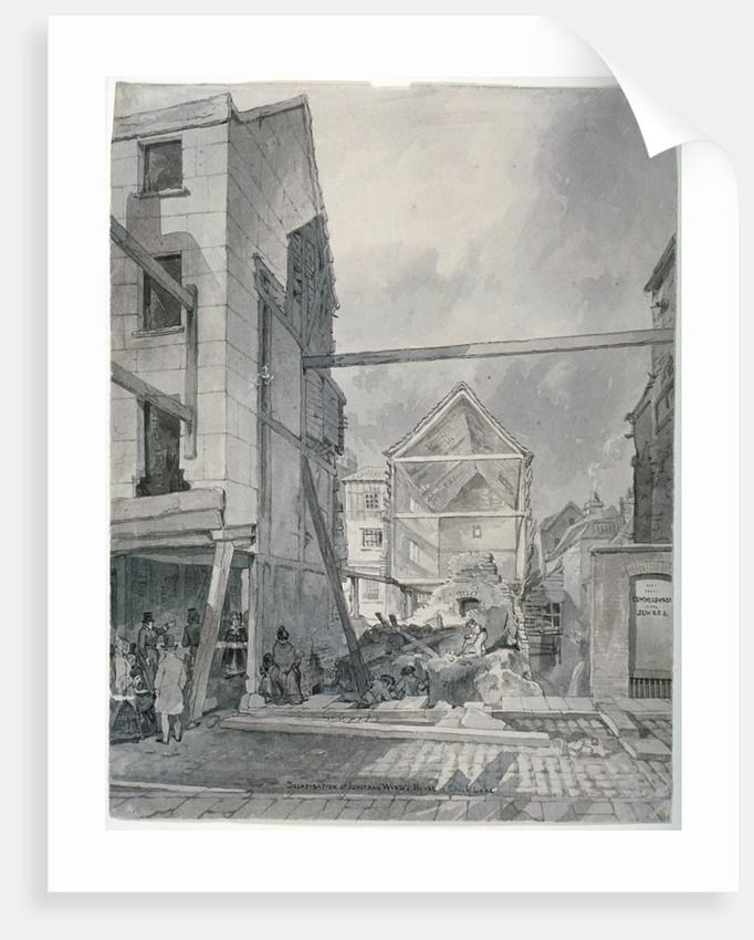 Chick Lane, City of London by Robert Blemmell Schnebbelie