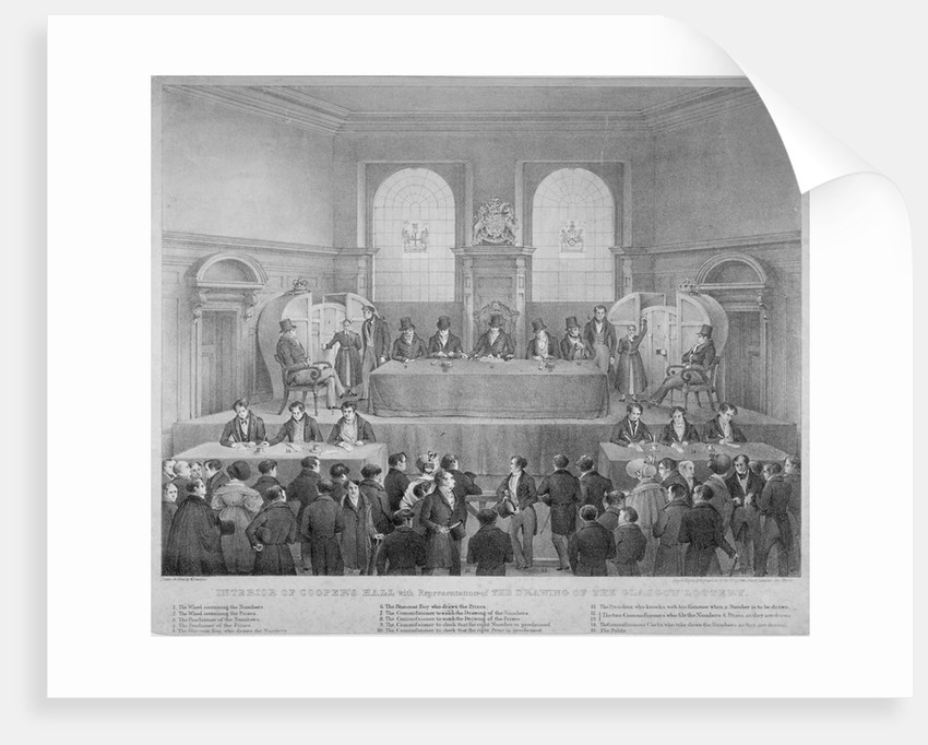 Lottery draw, Coopers' Hall, City of London by Day & Haghe