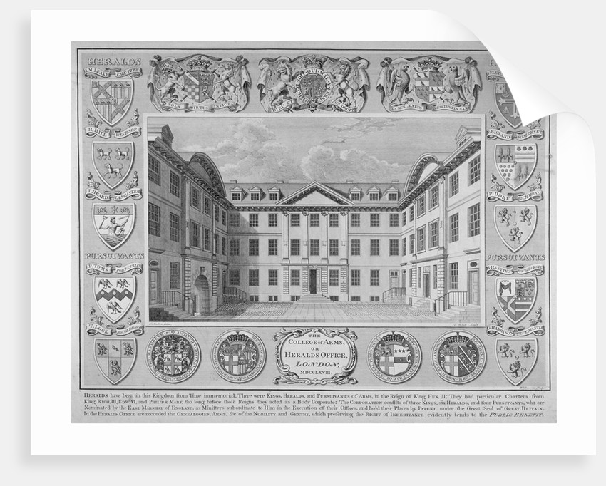 College of Arms, City of London by William Sherwin