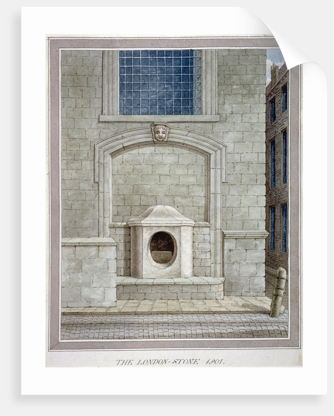 The London Stone, Cannon Street, City of London by Anonymous
