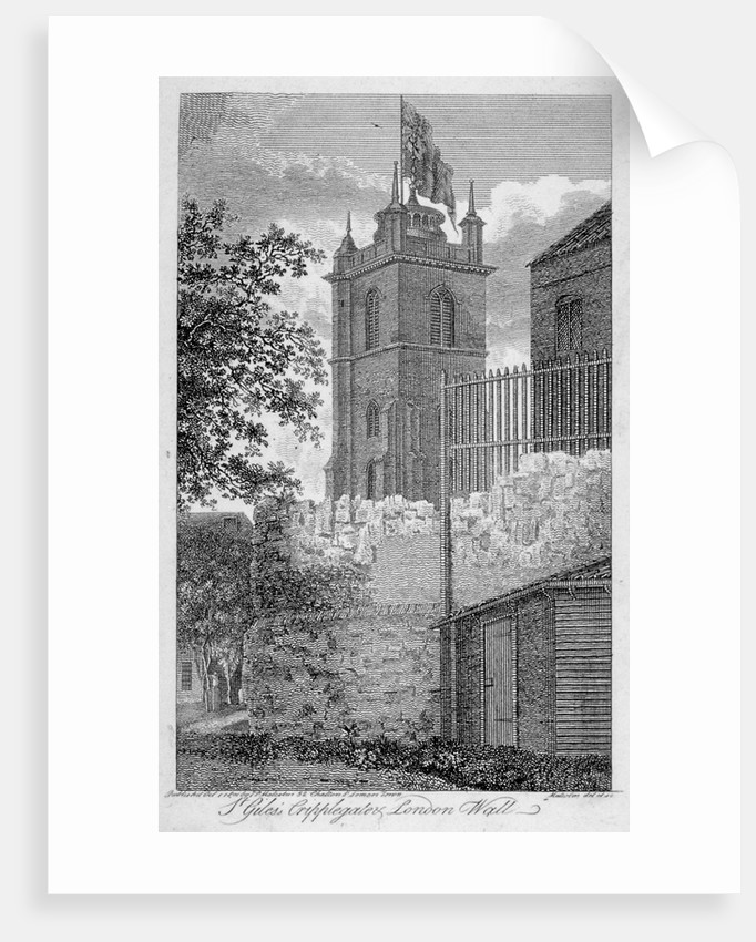 Church of St Giles without Cripplegate, and London Wall, City of London by James Peller Malcolm