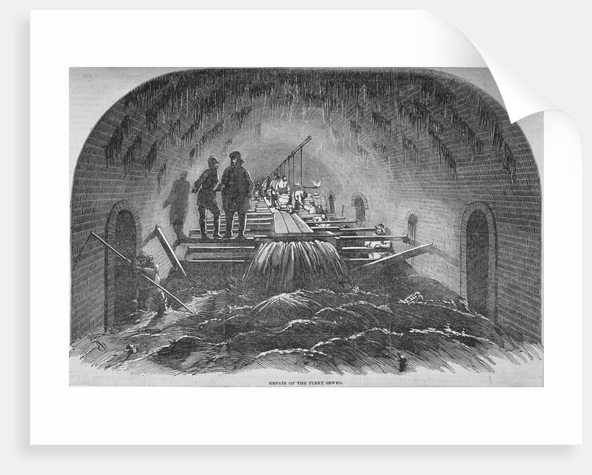 Repair of the Fleet sewer, City of London by