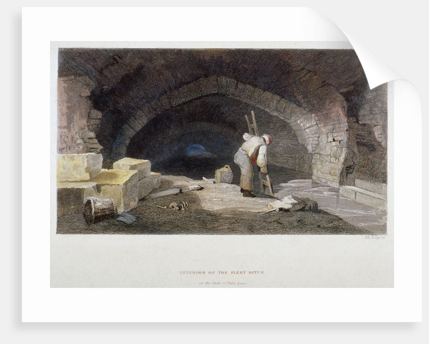 Interior of the Fleet Ditch at the back of Field Lane, City of London by John Wykeham Archer