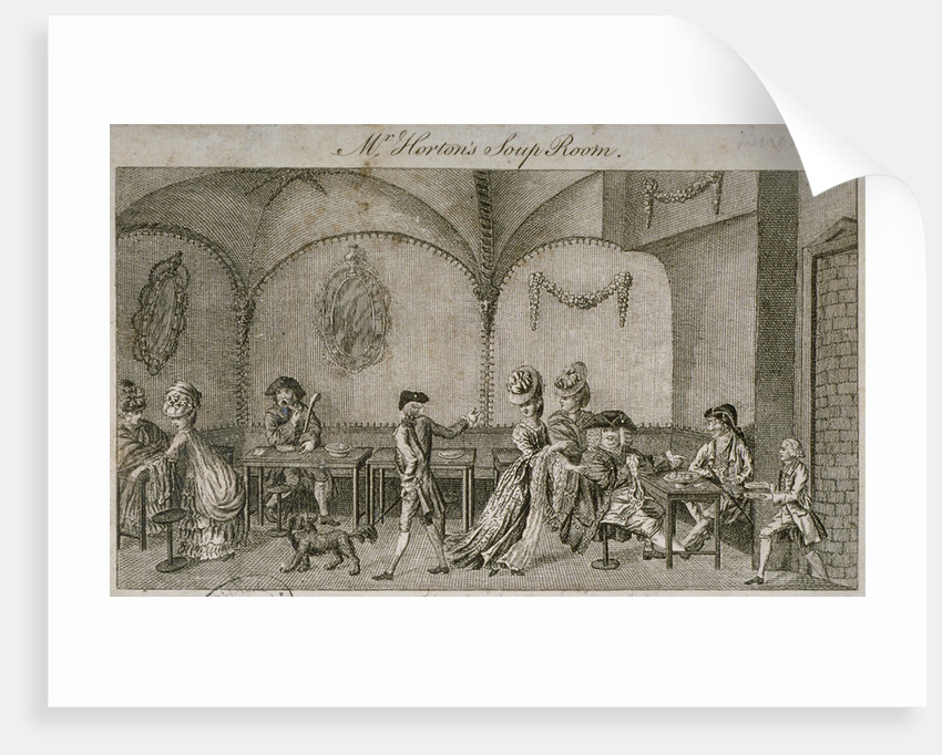 Interior view of Mr Horton's Soup Room, Cornhill, City of London by Anonymous