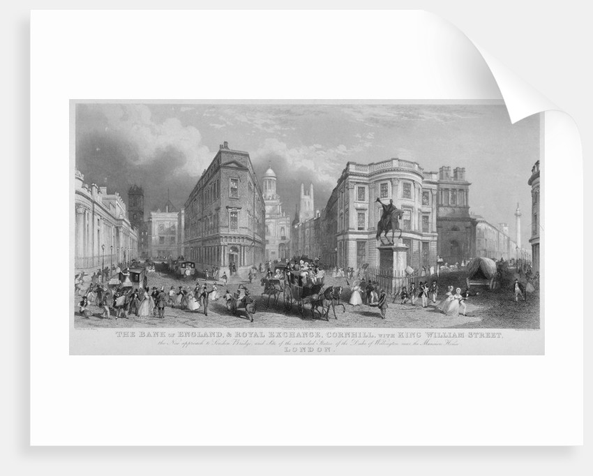 Cornhill, Lombard Street and King William Street, looking east, City of London by Henry Wallis