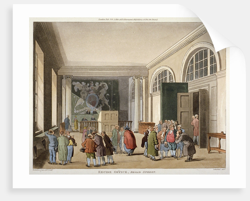 Interior of the Excise Office, Old Broad Street, City of London by Thomas Sutherland