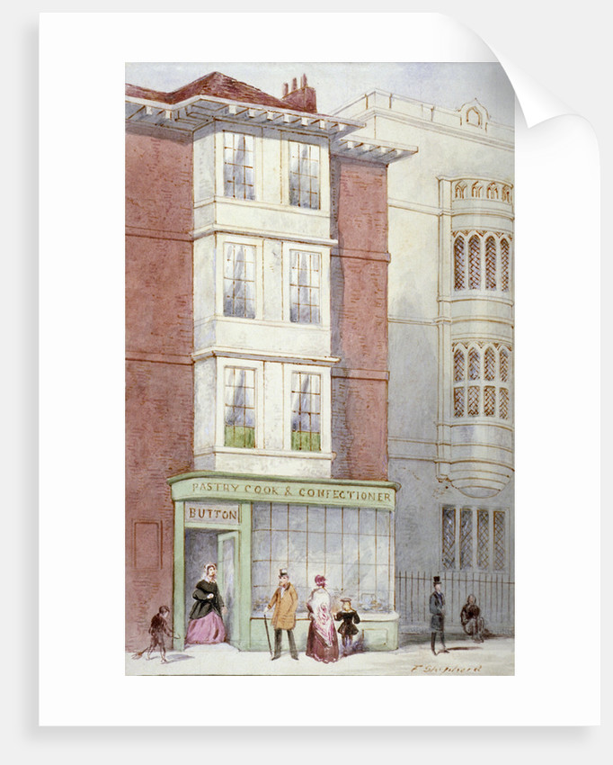 Button's pastry and confectionery shop, 187 Fleet Street, City of London by Frederick Napoleon Shepherd