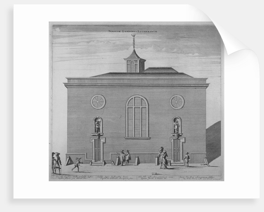 Lutheran church, Great Trinity Lane, City of London by Anonymous