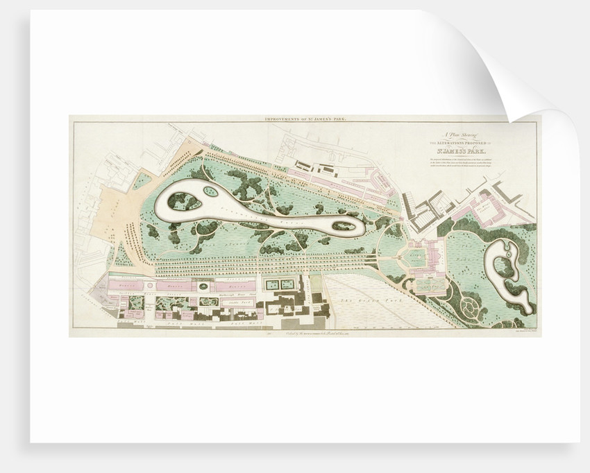 Plan of St James's Park, Westminster, London by Anonymous