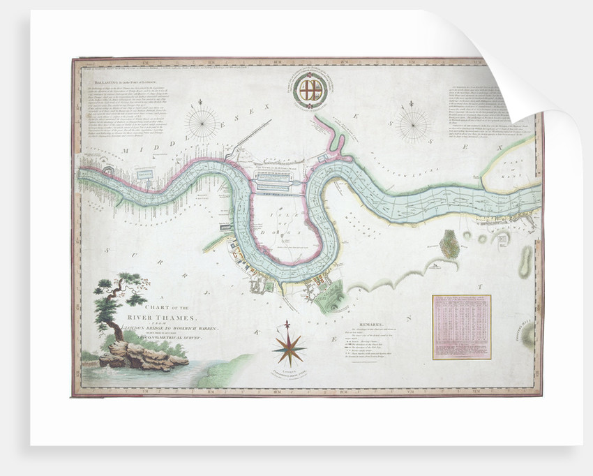 Map London Bridge.Map Of The River Thames From London Bridge To Woolwich