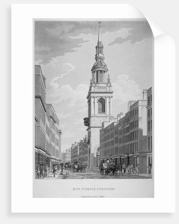 Church of St Mary-le-Bow, Cheapside, City of London by Sir Christopher Wren