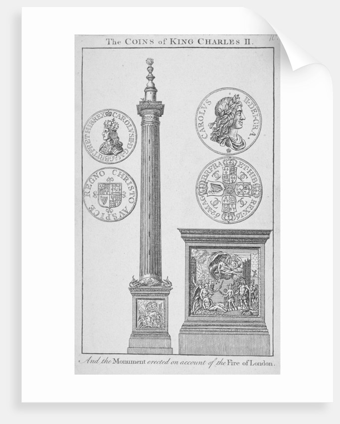 The Monument, City of London by Anonymous