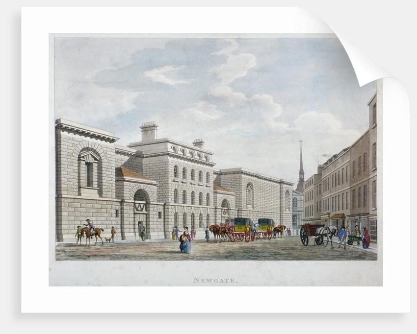 Newgate Prison, Old Bailey, City of London by Anonymous