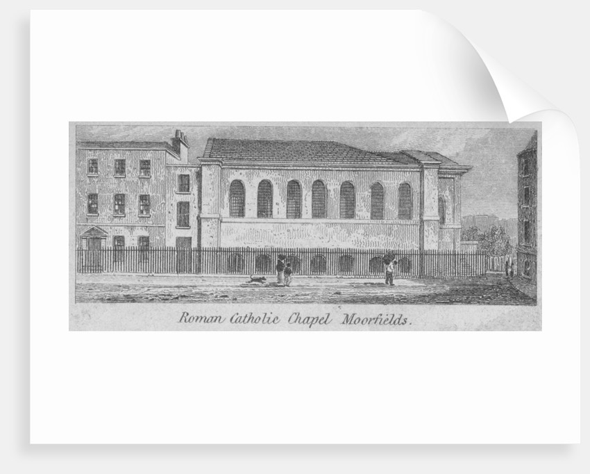 Side view of St Mary's Roman Catholic Church, Moorfields, City of London by Anonymous