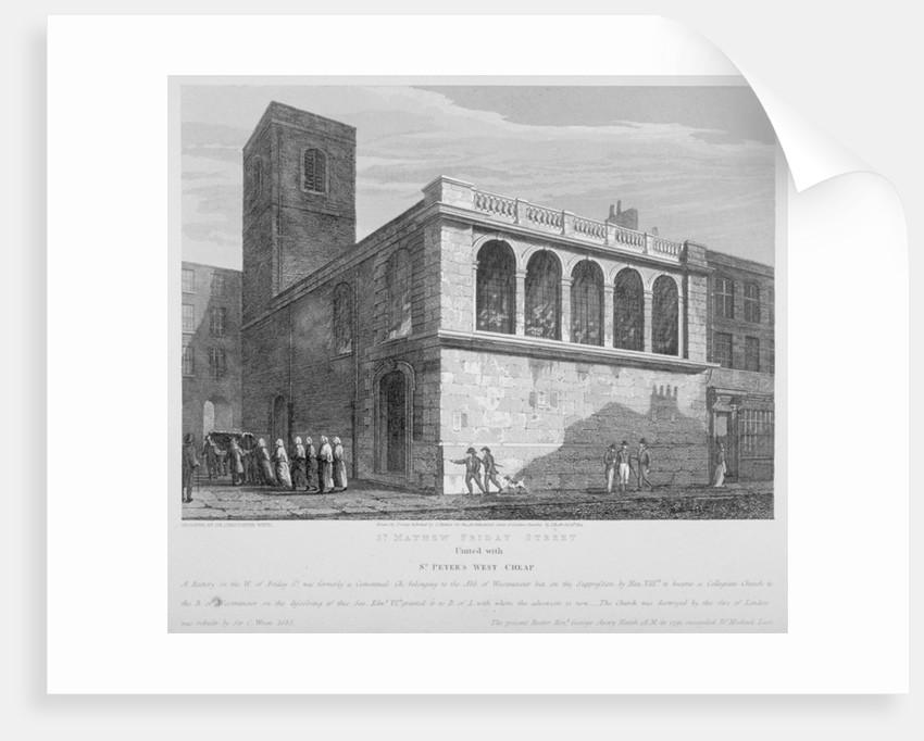 Church of St Matthew, Friday Street, City of London by Joseph Skelton
