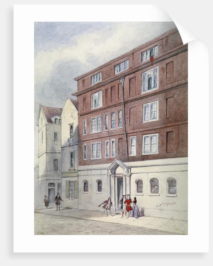 Residence of Titus Oates, Oat Lane, City of London by Frederick Napoleon Shepherd