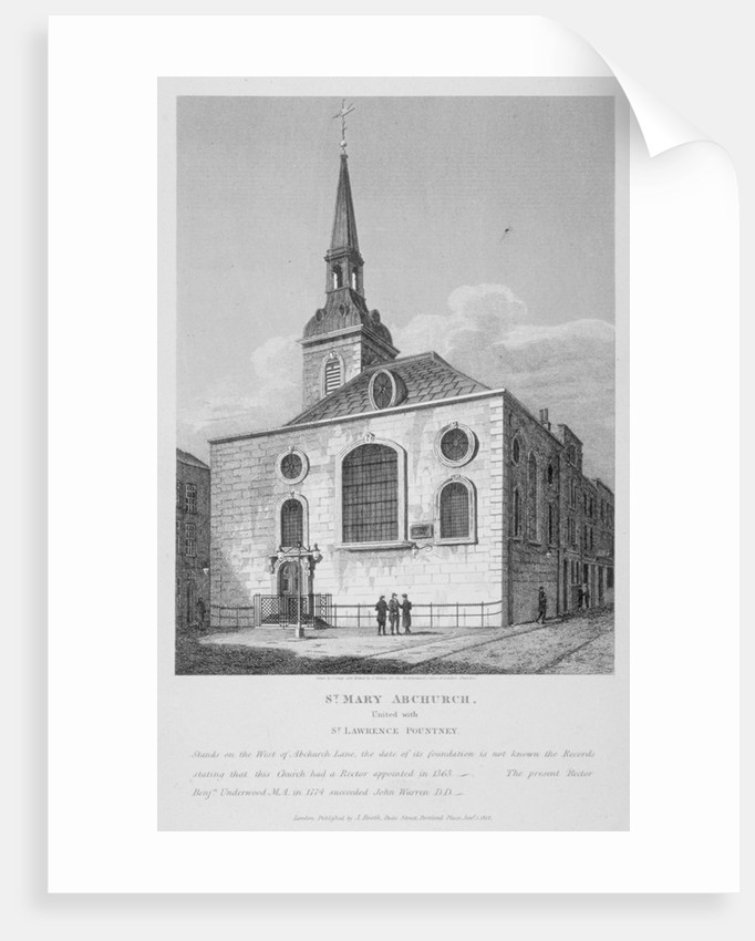 Church of St Mary Abchurch, City of London by Joseph Skelton