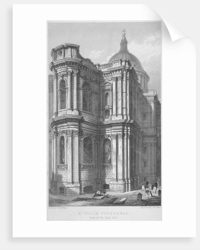 East end of St Paul's Cathedral, City of London by John Le Keux